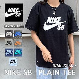 1日限定SALE【NIKE SB】男女兼用 レディース ナイキエスビー スウォッシュ コットン ロゴプリント 半袖 Tシャツ