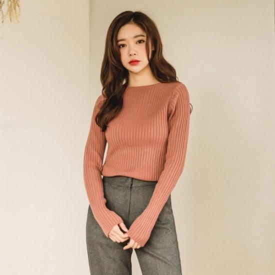 トゥウィゴルジ唇ネックのニット ニット/セーター/ニット/韓国ファッション