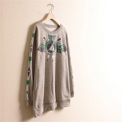 子供ウーマンインカ捺染マンツーマンMN1609ビックサイズ /ラウンドTシャツ/ Tシャツ/韓国ファッション