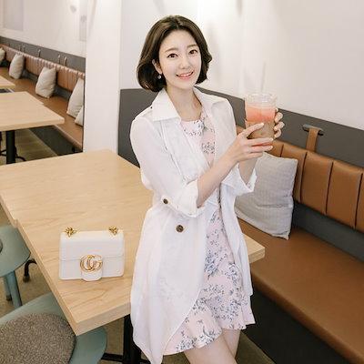 [Attrangs] ct674 내츄럴한 실루엣이 예쁜 트렌치 디자인의 썸머 자켓 coat ♥韓#22269 ファッションレディ#12540 ス