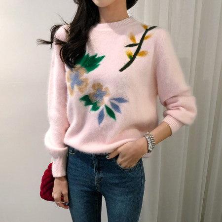 【Imvely]リリーアンゴラニットkorean fashion style