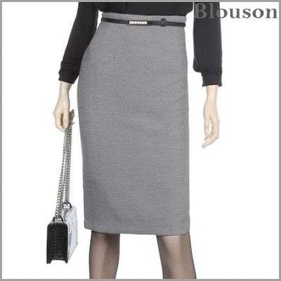 [ブルルジョン][ブルルジョン]オフィスHラインスリムスカート[B1901SK004A] /スカート/Hラインスカート/ 韓国ファッション
