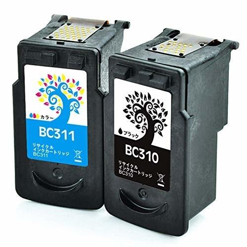 H &BO Canon BC-310 BC-311(ブラック+カラー)2個セット リサイクル 対応機種:PIXUS IP2700 / MP280 / MX350 / MP270 / MP480 / MX