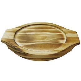 『調理器具』石焼ビビンバ鍋16cm用・19cm用 木製下敷き【下敷きのみ】キッチン用品 木台 石鍋用台 韓国食品
