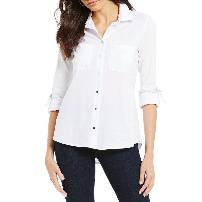ウエストバウンド レディース トップス ブラウス・シャツ【Westbound Button Front 2 Pocket Shirt】White