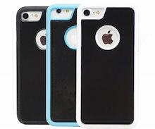 91d5478793 iPhone7 ケース 吸着タイプ ブラック 多色選べる 壁に貼りつく ジャケット シンプル アイフォン7