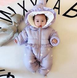 687b81dd4df2b 棉服ダウンオールインワン 冬ロンパース 赤ちゃん 子供服 ベビー服1624