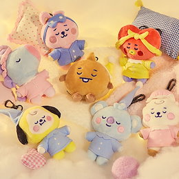 BTS (防彈少年團) x BT21 Line Friends Official Goods : Dream Of Baby BT21 Pajama Bag Charm Doll