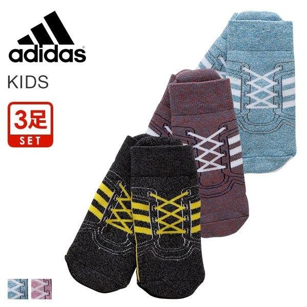 9217fba1646766 10%OFF (アディダス)adidas KIDS スニーカー丈 ソックス 靴下 3足組 キッズ