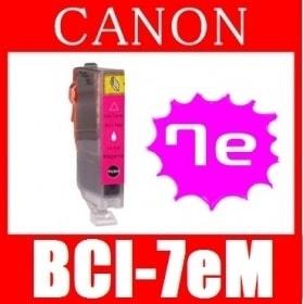 【キャノン BCI-7eM(マゼンタ) 互換インクカートリッジ】 Canon 即日発送/安心1年保証 関連:BCI-9BK BCI-7eBK BCI-7eC BCI-7eY BCI-7ePC BCI-