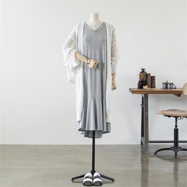 ビックサイズハローシスターエンウェイロングカディゴン 女性ニット/カーディガン/韓国ファッション