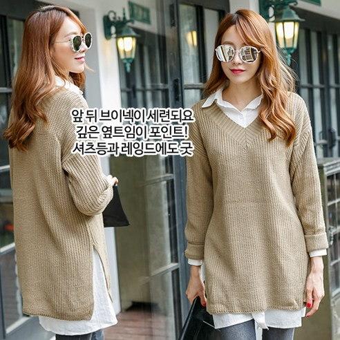 【Macys]量Vのニットニットkorea fashion style free shipping