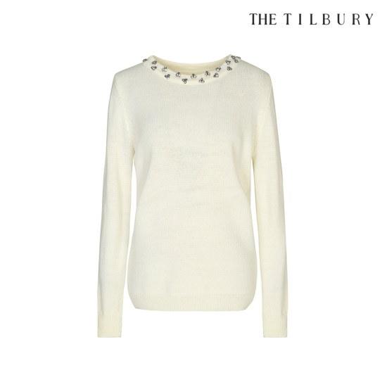 ティルボリネックラインジュアル装飾アンゴラニットTHCM1KT51 ニット/セーター/ニット/韓国ファッション