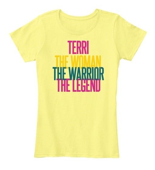 テリー女性戦士女性のプレミアムティー