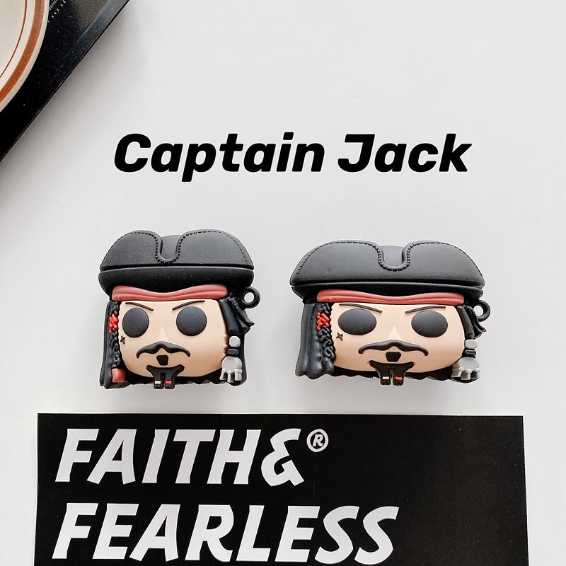 captain JackパイレーツオブカリビアンAirPods1/2ケースAirPods ProケースAirPods 3 カバー 収納ケースBluetooth earphoneケースエアーポッズケース