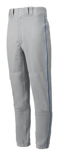 Mizuno Premier Piped Pant (Gray/Royal, X-Small)