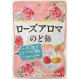 春日井製菓 ローズアロマのど飴 80g ×6袋