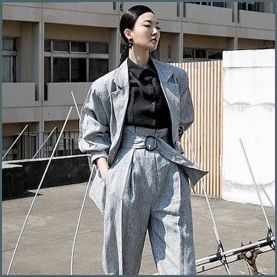 [ディントゥ][ディントゥ]J9013リテールピンタック・リンネンジャケット /ジャケット/テーラードジャケット/韓国ファッション