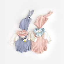 2019春ドレス、女の子のロンパース、かわいいウサギ百日服、ジャンプスーツ、ベビー服