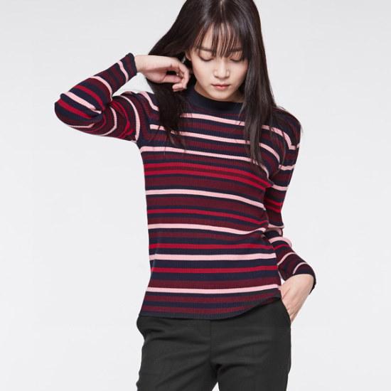 ナインNAINゴール組織マルチ・ストライプニートT3339 ニット/セーター/韓国ファッション