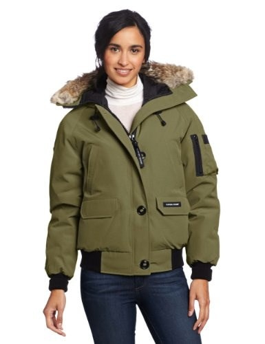 Canada Goose Womens Chilliwack Bomber, Military Green, Large