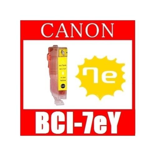 【キャノン BCI-7eY(イエロー) 互換インクカートリッジ】 Canon 即日発送/安心1年保証 関連:BCI-9BK BCI-7eBK BCI-7eC BCI-7eM BCI-7ePC BCI-