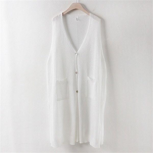 子供ウーマンディアニットロングチョッキRM1706ビックサイズnew 女性ニット/ニットベスト/韓国ファッション