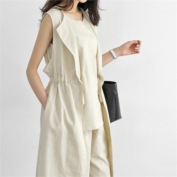 hlr06ベーシックリンネンベストリンネンベストリンネンチョッキ腰new 女性ニット/カーディガン/韓国ファッション