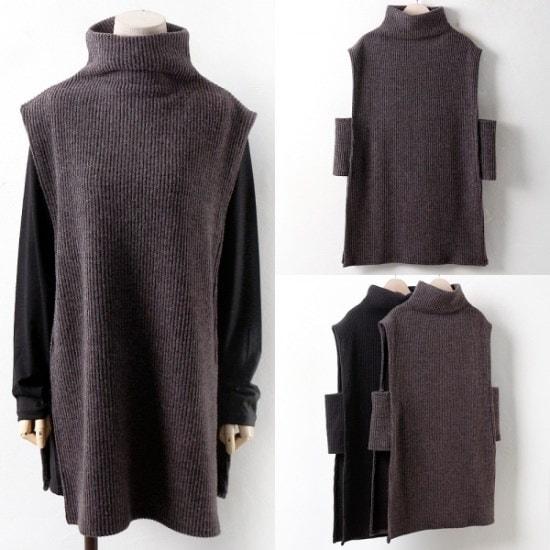 ウィスィモールWWの活用度グッドのポーラー・チョッキY712M2col66110size ニット/セーター/ニット/韓国ファッション