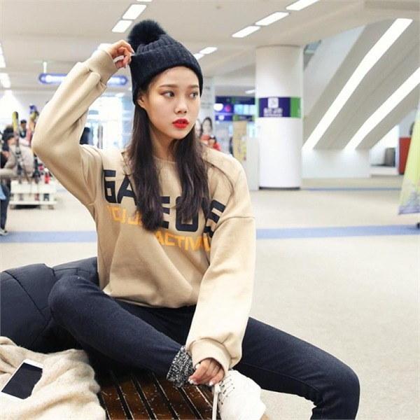 ビッグサイズ/ジェイスタイルジェントゥリ宝石オーバーロングマンツーマンnew 女性ニット/ラウンドニット/韓国ファッション