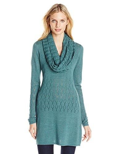 Aventura Womens Palmero Sweater Tunic Set, Blue Spruce, Small