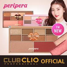 [CLUBCLIO 公式ショップ]ペリペラ - インクフィッティングカラーパレット/アイ8色+チーク2色セット/韓国コスメ