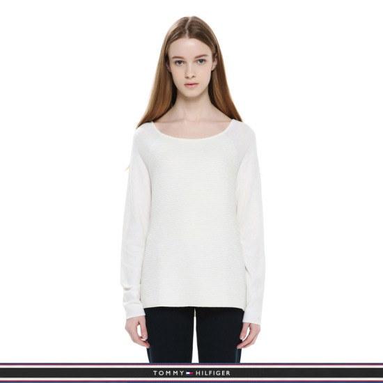 トミー・ヒルフィガー女性・クロップボトゥネクパクシピッセーターTFMP1WOE30A0118 ロングニット/ルーズフィット/セーター/韓国ファッション
