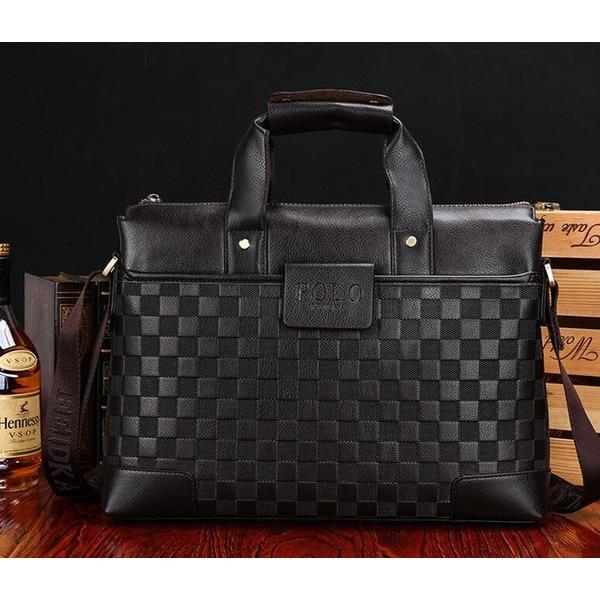 2WAY ビジネスバッグ メンズバッグ トートバッグ ブリーフケース 編み込み 2種類 カバン鞄 就活 通勤 紳士ショルダー 手提げ 斜めが