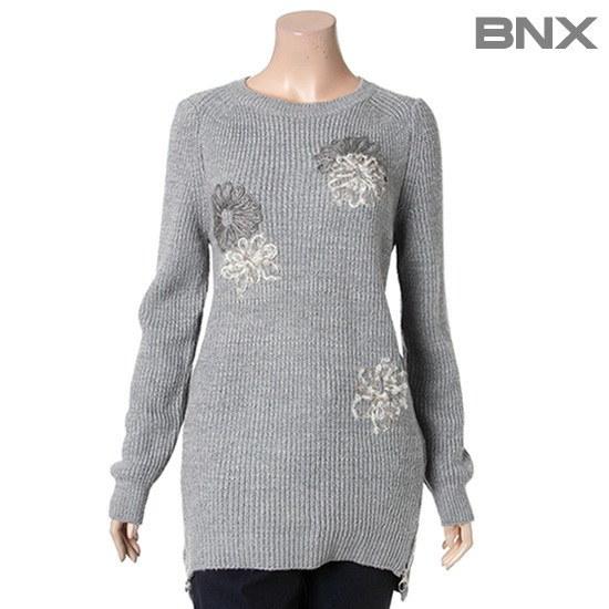 ビエンエックス八十ヘラシプルオーバーBNDKP925F0BL ニット/セーター/ニット/韓国ファッション