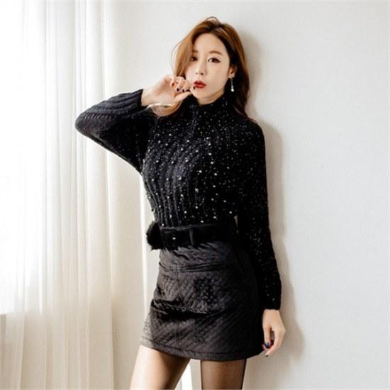クムチダブルラック行き来するようにクムチウェルラバンハイネク・ニットⓒst2203t ニット/セーター/ニット/韓国ファッション