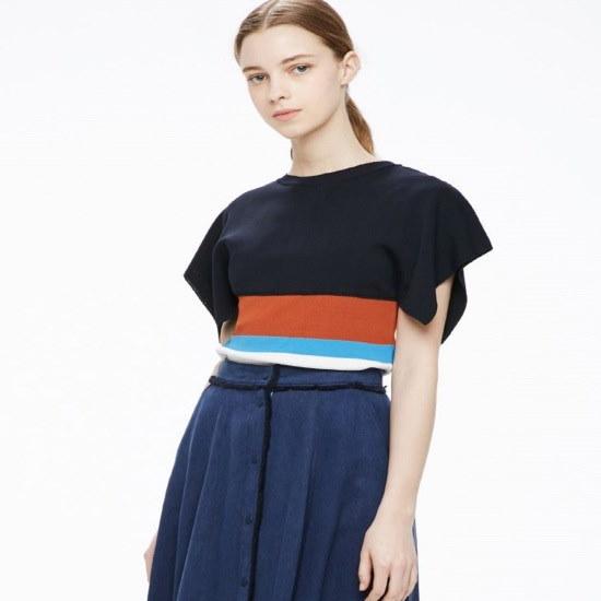 つけたカラー・ブロックケープ型ニートMHBKL462 ニット/セーター/韓国ファッション
