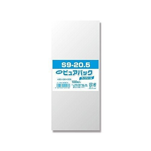 シモジマ OPP袋 Nピュアパック100枚 テープなし S9-20.5 6798218