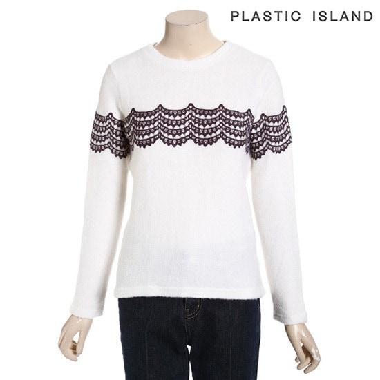 プラスチックアイルランドニットPF4CL266IV ニット/セーター/ニット/韓国ファッション