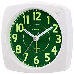 ランデックス(Landex) 目覚まし時計 アナログ 連続秒針 ポールスタァLC 集光文字盤 ホワイト YT5220WH