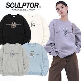 [SCULPTOR] 21年新作⭐Satin Applique Sweatshirt 韓国正規品 スカルプター トレーナー ユニセックス メンズ レディース 送料無料