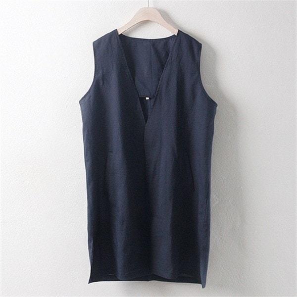 子供ウーマンリンネンポケットチョッキWW1706ビックサイズnew 女性ニット/ニットベスト/韓国ファッション