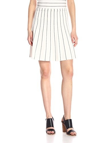 Theory Womens Lotamee P Flare Skirt, Eggshell/Navy, Large
