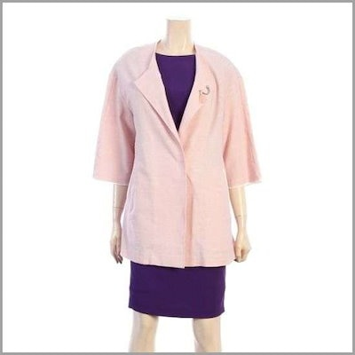 シンプルパクシピッジャケット(M75JKM201C/ピンク) /テーラードジャケット/ 韓国ファッション