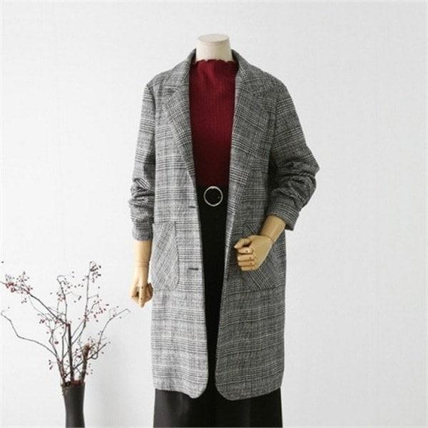 hlr11マルチグレン・ロングジャケットnew 女性のジャケット / 韓国ファッション/ジャケット/秋冬/レディース/ハーフ/ロング/