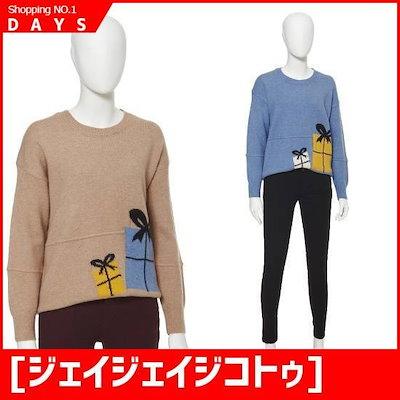 [ジェイジェイジコトゥ]贈り物プリントニート(GICN1KT66) / ニット/セーター/ニット/韓国ファッション