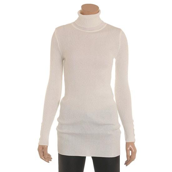 さんロング基本ニットポルラティーシャツSPUCY9904 ロングニット/ルーズフィット/セーター/韓国ファッション