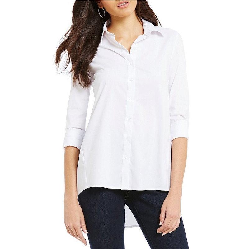 ウエストバウンド レディース トップス ブラウス・シャツ【Westbound Button Front Forward Seam Shirt】White