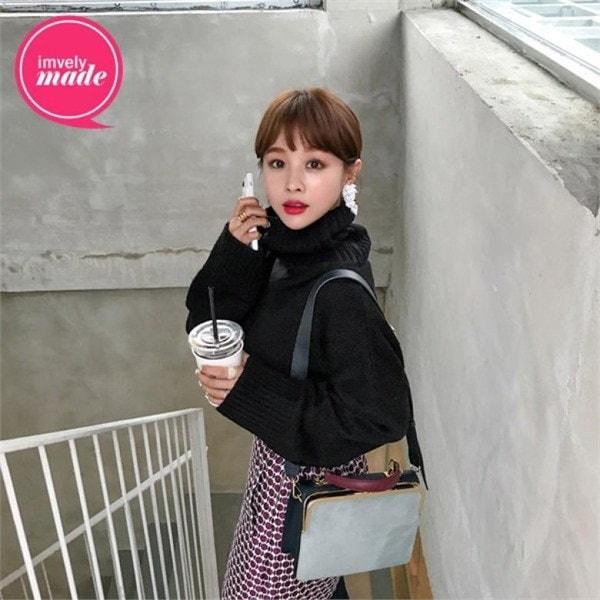 [イムアセンブリ]くびれ腰タスプニットnew 女性ニット/ラウンドニット/韓国ファッション