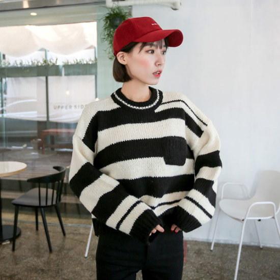 イルチルサハコレン・クロップニット ニット/セーター/ニット/韓国ファッション